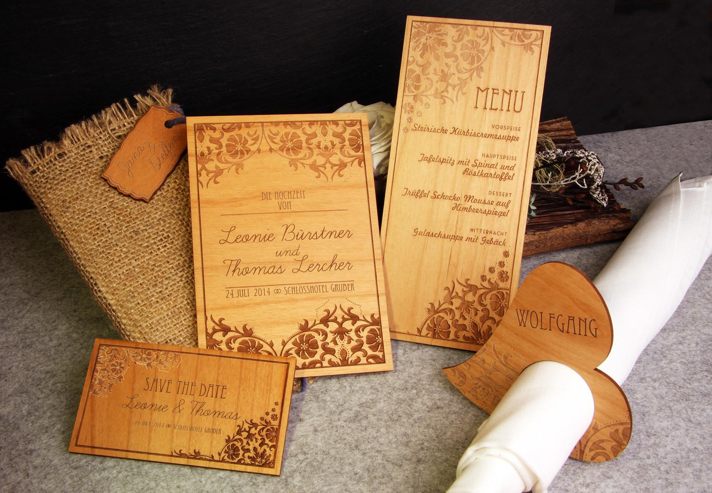 Hochzeitseinladungen mit holz alle guten ideen ber die ehe for Holz dekoration hochzeit